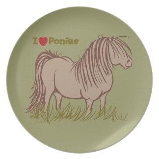 Jag älskar ponnyer tallrik