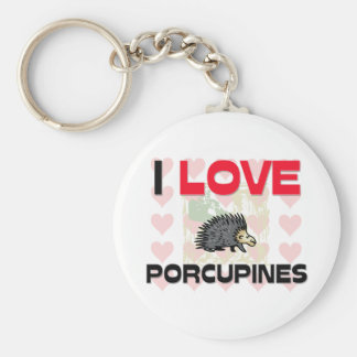 Jag älskar Porcupines Rund Nyckelring