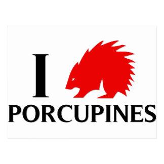 Jag älskar Porcupines Vykort