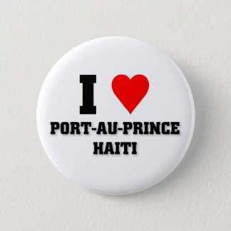 Jag älskar Port-au-Princen Standard Knapp Rund 5.7 Cm