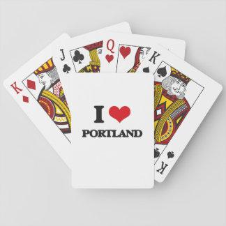 Jag älskar Portland Casinokort