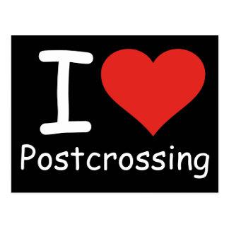 Jag älskar Postcrossing Vykort