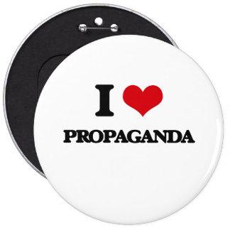 Jag älskar propaganda jumbo knapp rund 15.2 cm