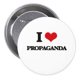 Jag älskar propaganda mellanstor knapp rund 7.6 cm