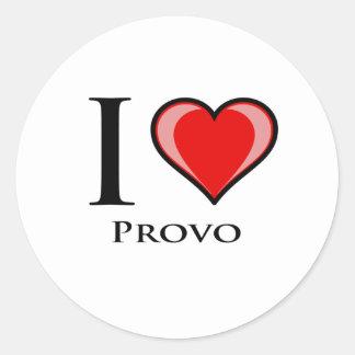 Jag älskar Provo Runt Klistermärke