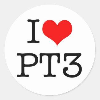 Jag älskar PT3 Runt Klistermärke