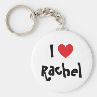 Jag älskar Rachel Rund Nyckelring