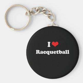 Jag älskar Racquetballtshirten Rund Nyckelring