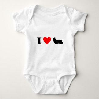 Jag älskar rankan för babyen för Skye Terriers Tröja