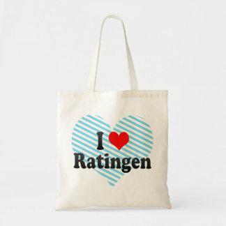 Jag älskar Ratingen, Tyskland Budget Tygkasse