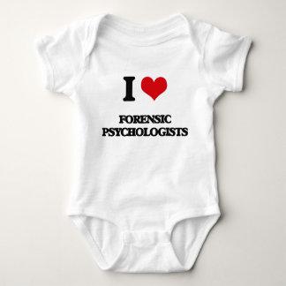 Jag älskar rättsmedicinska psykologer tee shirts