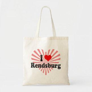 Jag älskar Rendsburg, Tyskland Budget Tygkasse