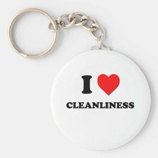 Jag älskar renlighet rund nyckelring