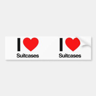 jag älskar resväskor bildekal