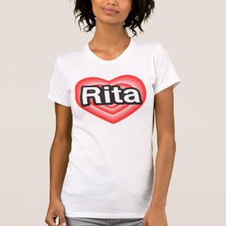 Jag älskar Rita. Jag älskar dig Rita. Hjärta T Shirt
