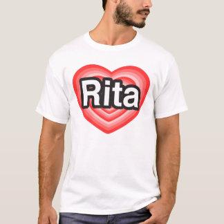 Jag älskar Rita. Jag älskar dig Rita. Hjärta Tee Shirts