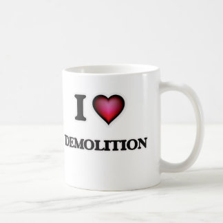 Jag älskar rivning kaffemugg