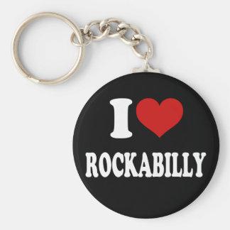 Jag älskar Rockabilly Rund Nyckelring