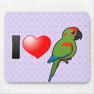 Jag älskar Röd-beklädde Macaws Musmatta