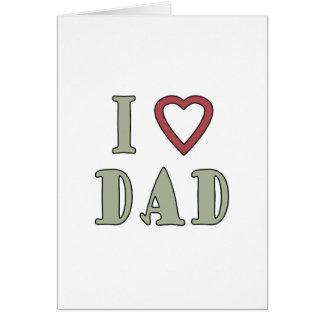 Jag älskar röd hjärta för pappan hälsningskort