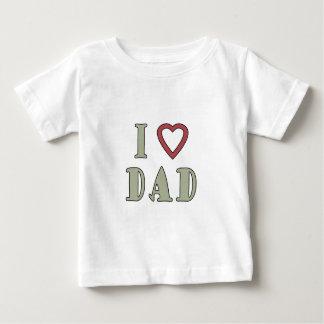 Jag älskar röd hjärta för pappan tshirts