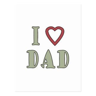 Jag älskar röd hjärta för pappan vykort