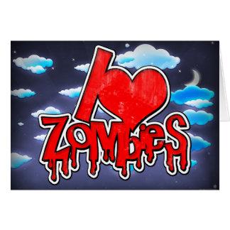 Jag älskar röda Zombies Hälsningskort