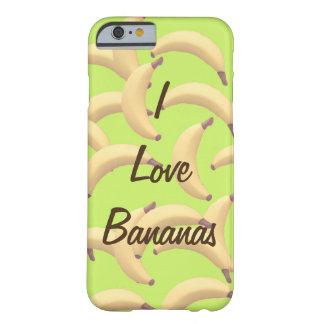 Jag älskar roliga bananer barely there iPhone 6 fodral