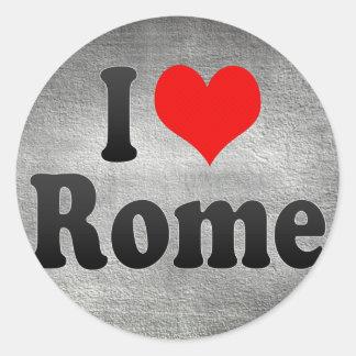 Jag älskar Rome, United States Runt Klistermärke