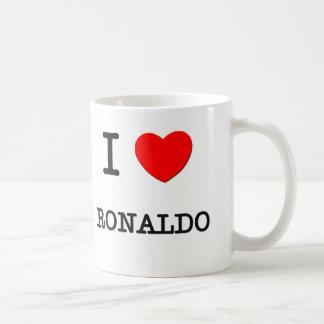 Jag älskar Ronaldo Vit Mugg