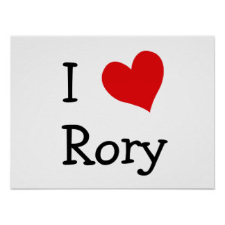 Jag älskar Rory Poster