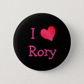 Jag älskar Rory Standard Knapp Rund 5.7 Cm