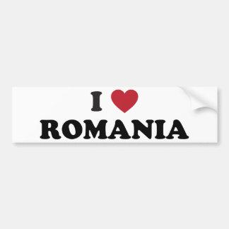 Jag älskar rumänien bildekal