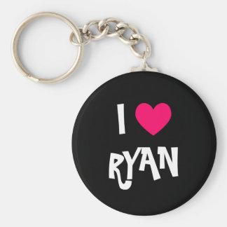 Jag älskar Ryan Rund Nyckelring