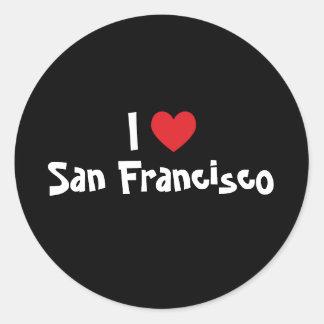 Jag älskar San Francisco Runt Klistermärke