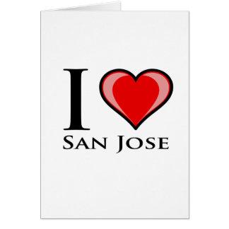 Jag älskar San Jose Hälsningskort