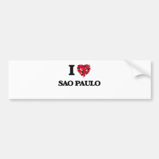 Jag älskar Sao Paulo Brasilien Bildekal