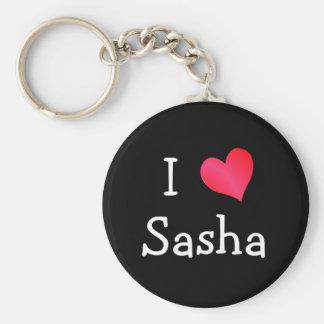 Jag älskar Sasha Rund Nyckelring