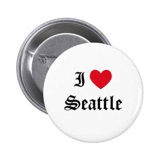 Jag älskar Seattle Standard Knapp Rund 5.7 Cm