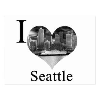 Jag älskar Seattle Vykort