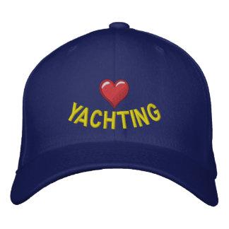 Jag älskar segling med grafisk hjärta kepor