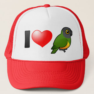 Jag älskar Senegal papegojor Truckerkeps