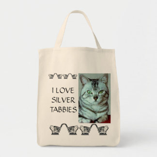 Jag älskar silverTabbies Mat Tygkasse