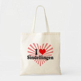 Jag älskar Sindelfingen, Tyskland Tote Bag
