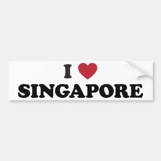Jag älskar Singapore Bildekal