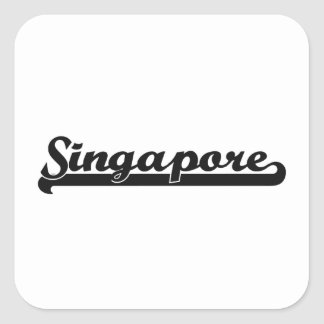 Jag älskar Singapore Singapore klassikerdesign Fyrkantigt Klistermärke