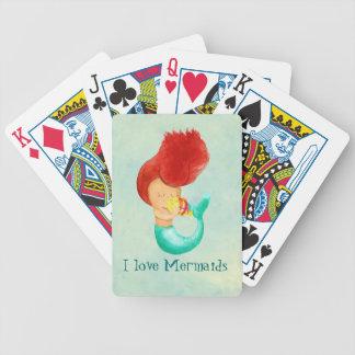 Jag älskar sjöjungfruar spelkort