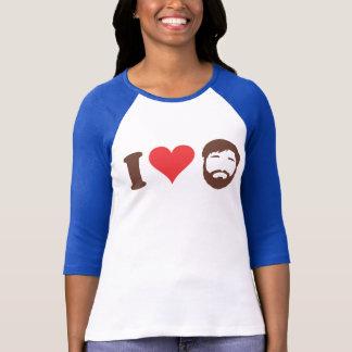 Jag älskar skäggskjortan tee shirt