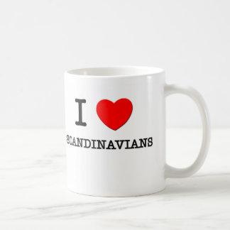 Jag älskar skandinav kaffe muggar