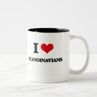 Jag älskar skandinav Två-Tonad mugg